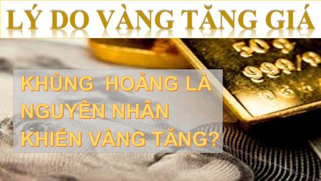 Lý Do Vàng Tăng Giá - Có Phải Cứ Khủng Hoảng Là Vàng Sẽ Tăng?