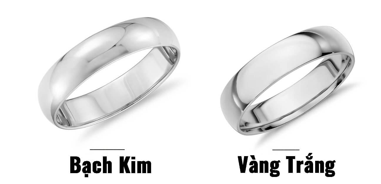 Bạch kim và vàng trắng rất dễ bị nhầm lẫn với nhau